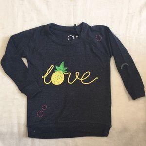 Girls NWT Chaser Pineapple sweatshirt, size 5